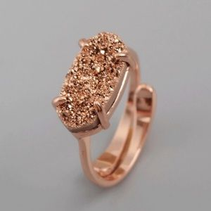 LAST ONE💃Rose Gold Drusy Ring